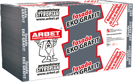 Arbet Styropian FASADA EKO GRAFIT 0,033 15cm