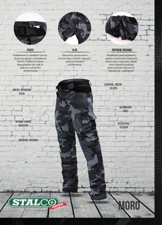 Stalco Spodnie robocze 2w1 odpinane MORO